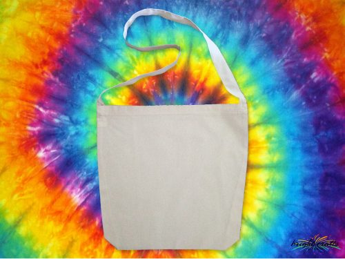 Bright Crafts white calico sling bag ready to dye