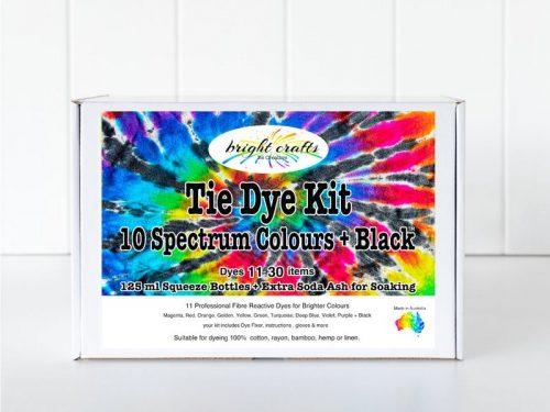 Box Bright Crafts Spectrum + Black Tie Dye Kit