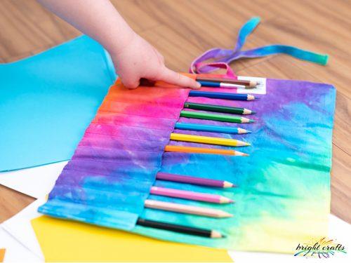 Bright Crafts Tie Dye Pencil Wrap